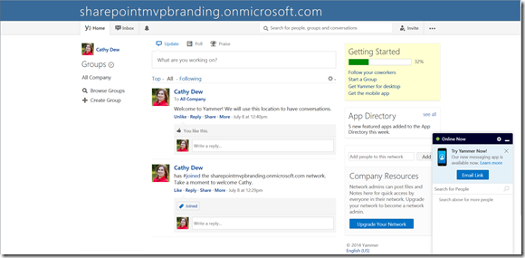 CustomThemeYammer